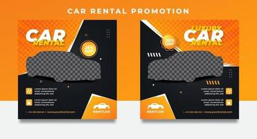 Rental car promotion templates for social media post banners. vector