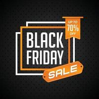 Black Friday Sale discount up to 70 vector