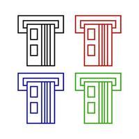 Atm Set On White Background vector