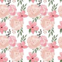 rose flower seamless pattern watercolor style vector
