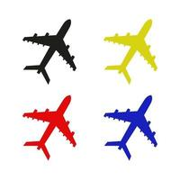 Set Of Airplane On White Background vector