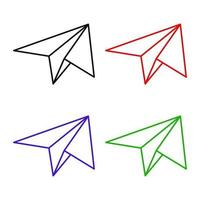 Set Of Paper Plane On White Background vector