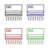 Air Conditioning Set On White Background vector