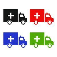Ambulance Set On White Background vector