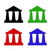 Bank Set On White Background vector