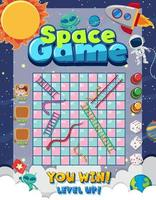 Snake Ladder game in galaxy theme vector