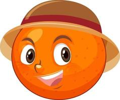 Orange cartoon character with facial expression vector