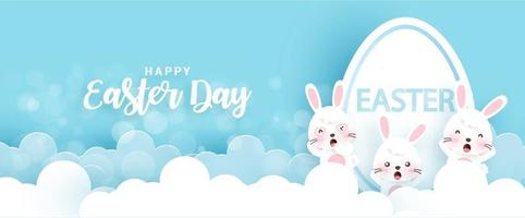 Easter day background and banner . vector