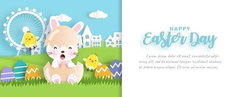 Easter day sale banner vector