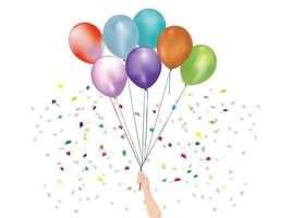 Balloons Celebration on illustration graphic vector