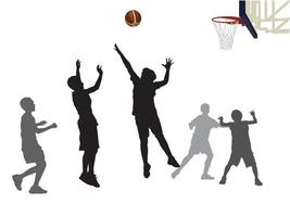 Students Play Basketball on illustration graphic vector