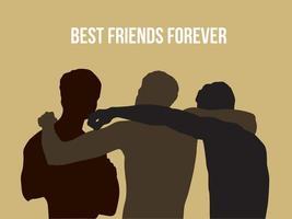 Best Friend Forever on illustration graphic vector