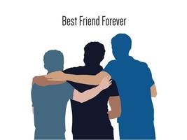 Best Friend Forever on illustration graphic vector