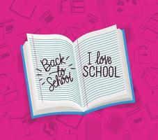 text books and supplies back to school vector