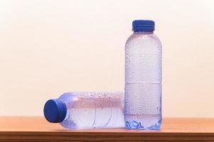 Bottles of drinking water photo