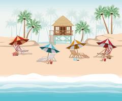 diseño de cabaña de verano y vacaciones. vector