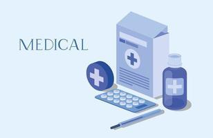 conjunto de iconos médicos ilustración vectorial