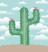 cactus in a garden vector