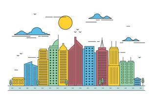 City Skyline Illustration vector