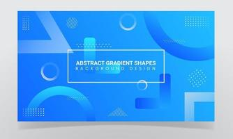 Abstract Blue Gradient Shapes Background Design vector