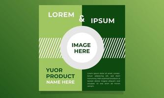 Post fresh green background design vector