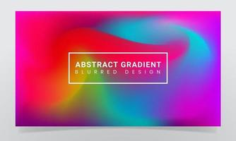 Abstract blurred gradient background design vector