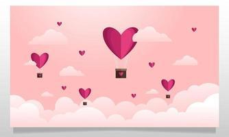 el amor está en el aire, diseño de ilustraciones vector