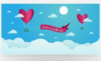 Love is in the air background design vector