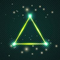 Glowing Effect Triangle Stroke with isolated background vector