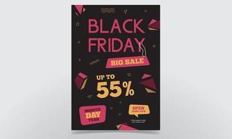 Black Friday Big Sale Poster Background Design vector