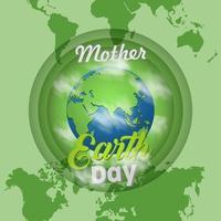 dia de la madre tierra vector