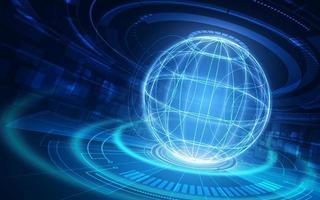 tecnología de la comunicación e internet en todo el mundo para empresas. Red mundial mundial conectada y telecomunicaciones en la tierra. vector