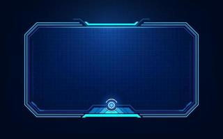 HUD, UI, GUI futuristic user interface screen elements. High tech screen for video game. Sci-fi concept design. vector