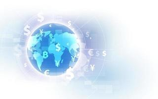 Money transfer. Global Currency. Stock Exchange. Stock vector illustration.eps10