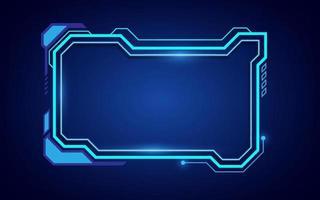 sci fi frame cyber pattern background design eps 10 vector