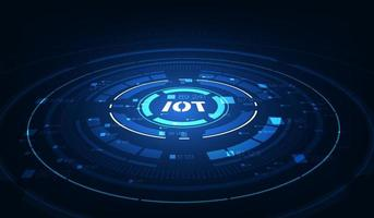 landing page IoT. Internet of things devices and connectivity concepts on a network. Spider web of network connections vector