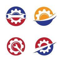 conjunto de imágenes de logotipo de servicio de engranajes vector