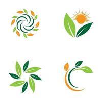 Leaf logo images set vector