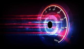 Fondo de movimiento de velocidad con coche velocímetro rápido. Fondo de velocidad de carrera. vector
