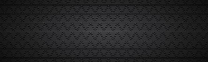 Black abstract header with rectangles. Modern vector widescreen banner. Simple texture illustration