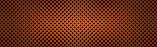 Perforated dark orange metallic header. Abstract banner vector illustration