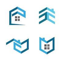 conjunto de imágenes del logotipo de la casa vector