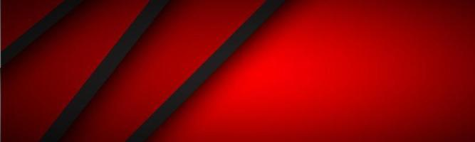 Abstract header with red and black layers above each other. Modern design banner for your business. Vector illustration with oblique stripes and lines