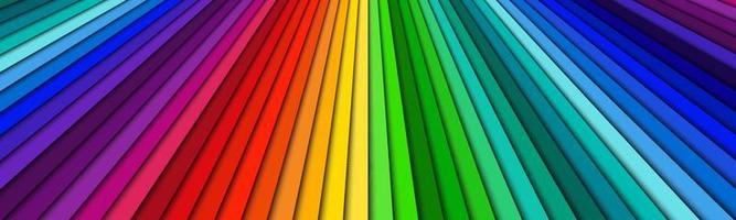 Brightly colored abstract header. Spectrum lines banner. Bright pattern. Simple vector illustration