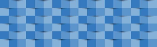 Blue abstract texture header. Vector 3d paper style banner. Cover design. Abstract background