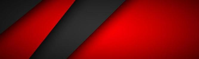 Black and red overlay layers header. Modern material design banner. Vector illustration corporate template