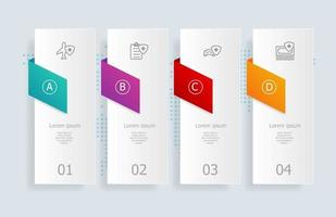 abstract horizontal timeline infographics 4 steps with world map for business and presentation vector
