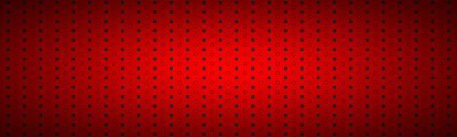 Cabecera perforada metálica roja oscura estructurada. banner de diseño de tecnología. ilustración vectorial vector