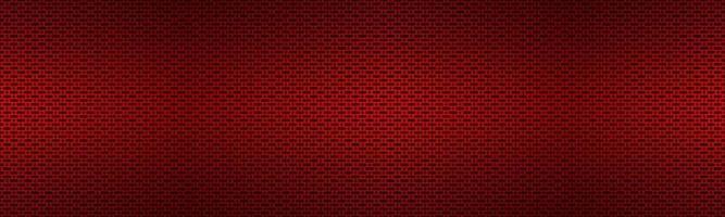 Cabecera metálica roja perforada. banner de textura de metal. Ilustración de texnology simple. círculo, rectángulo redondeado y ovalado perforado