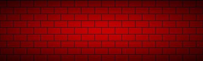 Modern red brick pattern header. Vector tile pattern banner. Simple vector illustration